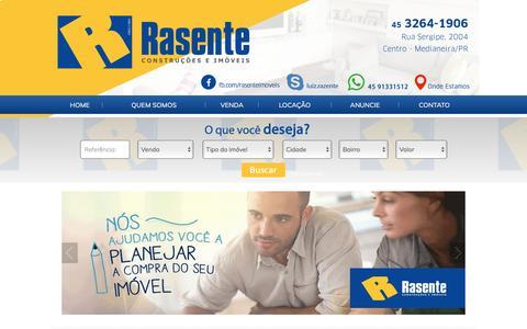 Screenshot of Home Page rasenteimoveis.com.br - Rasente Imóveis em Medianeira Paraná - captured May 2, 2017