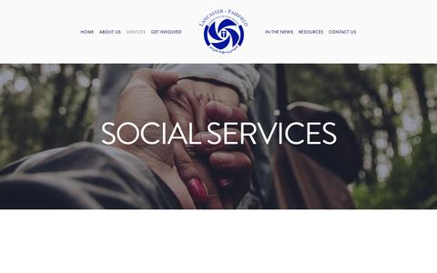 Screenshot of Services Page faircaa.org - Social Services — Lancaster Fairfield Community Action Agency - captured Sept. 26, 2018