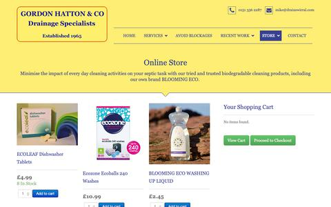 Screenshot of Products Page drainswirral.com - Store - captured Sept. 29, 2018