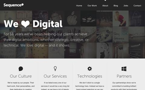 Screenshot of About Page sequence.co.uk - Creative Digital Agency in Cardiff | About | Sequence - captured Sept. 23, 2014