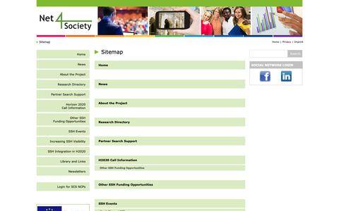 Screenshot of Site Map Page net4society.eu - net4society - Sitemap - captured Oct. 26, 2018