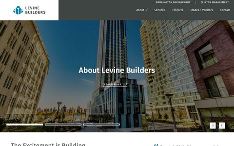 Screenshot of Home Page levinebuilders.com - Construction Management and Contracting - captured July 18, 2018