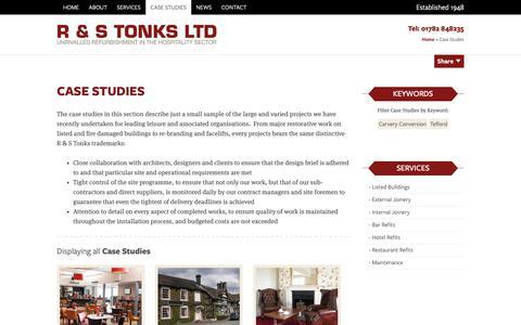 Screenshot of Case Studies Page randstonks.co.uk - Case Studies Archive - R & S Tonks - captured Oct. 1, 2018