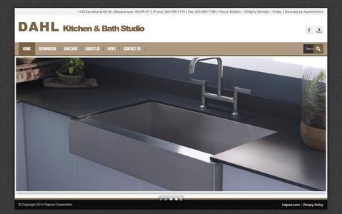 Screenshot of Home Page dahlalbuquerque.com - DAHL Kitchen & Bath Studio   Where the Magic of Water Begins - captured Oct. 5, 2014