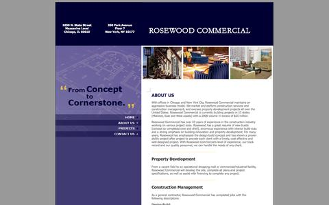 Screenshot of About Page rosewoodcommercial.net - Rosewood Commercial - About Us - captured Oct. 7, 2014