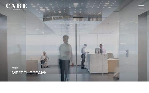 Screenshot of Team Page cabe.com.au - People | Cabe - captured Nov. 21, 2018