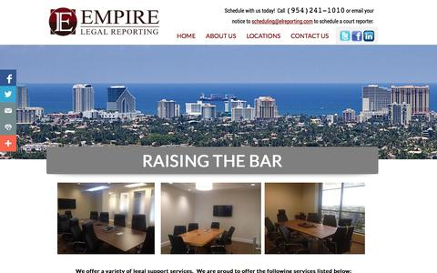 Screenshot of Home Page elreporting.com - Empire Legal Reporting - captured Oct. 2, 2014