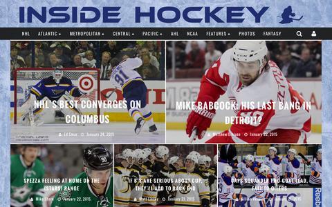 Screenshot of Home Page insidehockey.com - Inside Hockey | Get Inside! - captured Jan. 25, 2015