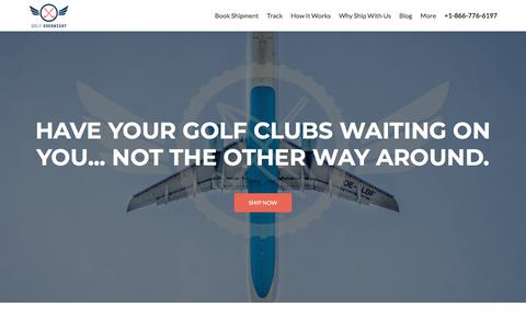 Screenshot of Home Page golfovernight.com - Cheap Golf Bag Shipping | Ship Online Golf Club at Low Price | Golfovernight - captured Aug. 19, 2019