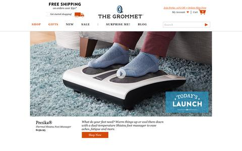 Screenshot of Home Page thegrommet.com - Unique Gifts & Innovative Products by Makers | The Grommet - captured Aug. 6, 2019