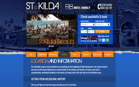 Screenshot of Locations Page stkildabeachhouse.com.au - locations Archives - St Kilda Beach House - captured Oct. 26, 2014