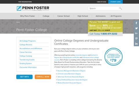 Penn Foster College Degree & Certificates | Penn Foster College