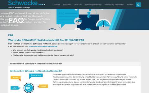 Screenshot of FAQ Page schwacke.de - FAQ - Schwacke - captured Sept. 29, 2018