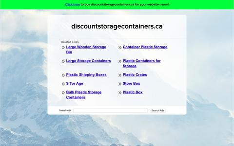 Screenshot of Home Page discountstoragecontainers.ca - discountstoragecontainers.ca - captured Oct. 20, 2018