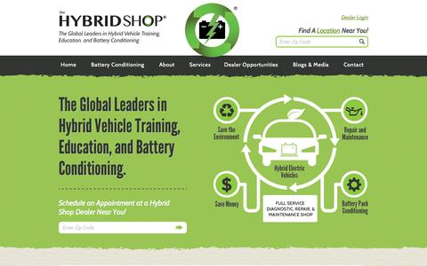 Screenshot of Home Page thehybridshop.com - Hybrid Batteries Replacement|Reconditioned|Hybrid Service Maintenance - captured Sept. 19, 2014