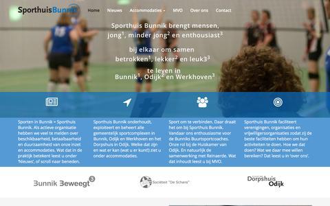 Screenshot of Home Page sporthuisbunnik.nl - Home - Sporthuis Bunnik - captured Feb. 18, 2016