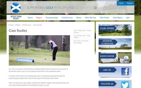 Screenshot of Case Studies Page scottishgolf.org - Scottish Golf | Case Studies - captured Dec. 1, 2016