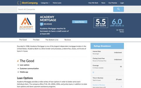 Academy Mortgage Reviews | BestCompany.com
