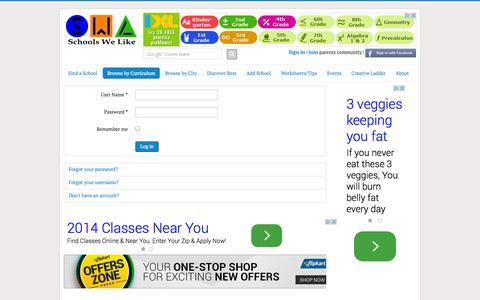 Screenshot of Login Page schoolswelike.com - Schools We Like - captured Nov. 2, 2014