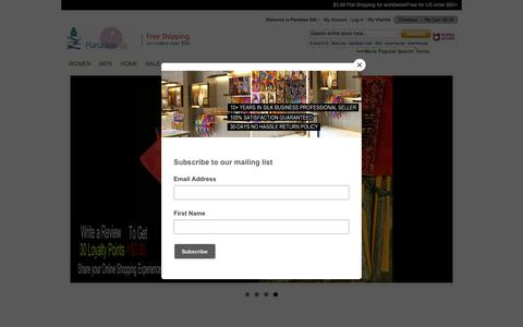Screenshot of Home Page paradise-silk.com - Silk,Bamboo,Underwear,Sleepwear,Socks,Bedding -Paradise Silk - captured July 15, 2018