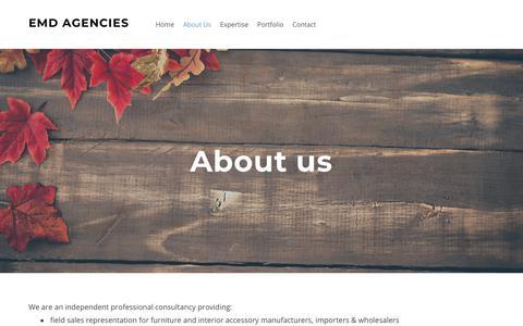 Screenshot of About Page emdagencies.co.uk - About Us - EMD Agencies - captured July 14, 2018