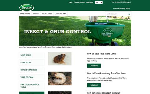 Screenshot of scotts.com - Insect & Grub Control | Scotts - captured July 13, 2017
