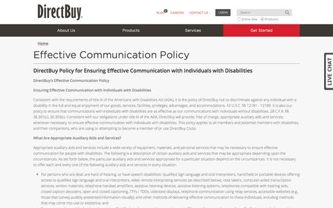 Effective Communications Policy | DirectBuy