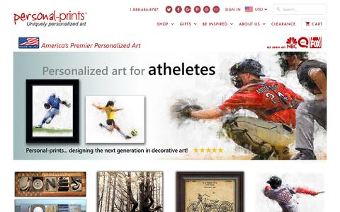 Screenshot of Home Page personal-prints.com - Personalized Art, Name Art and Personal Prints - Largest Selection of Personalized Art Work - captured Oct. 22, 2018