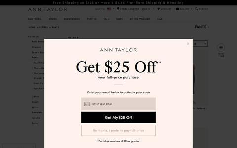Women's Petite Pants: ANN TAYLOR