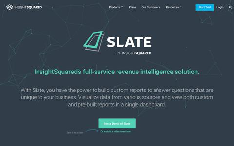 Screenshot of Products Page insightsquared.com - Slate by InsightSquared - captured April 13, 2018