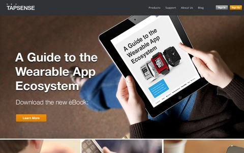 Screenshot of Home Page tapsense.com - TapSense - The Leading Mobile Advertising Exchange - captured Sept. 10, 2014
