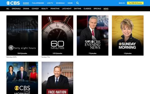 Screenshot of Press Page cbs.com - CBS.com - captured March 7, 2017