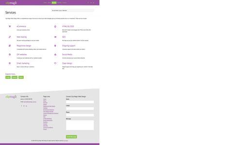 Screenshot of Services Page clipmagic.com.au - Services | Clip Magic Web Design - web design development services range offers - captured Dec. 9, 2015