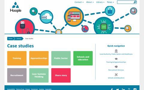Screenshot of Case Studies Page hoopleltd.co.uk - Case studies - Hoople - captured Jan. 31, 2016