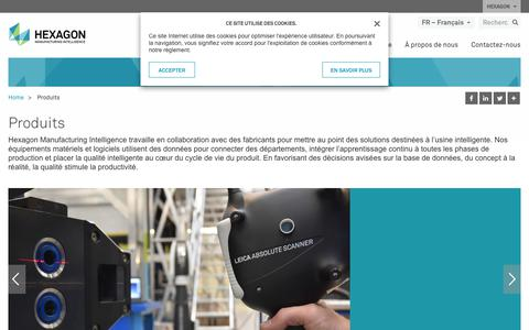 Screenshot of Products Page hexagonmi.com - Produits | Hexagon Manufacturing Intelligence - captured Nov. 25, 2017
