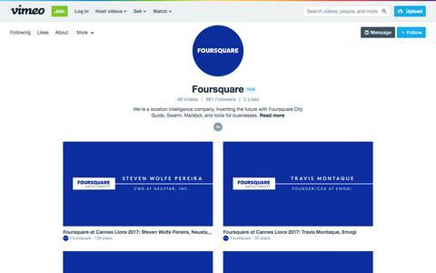 Foursquare on Vimeo