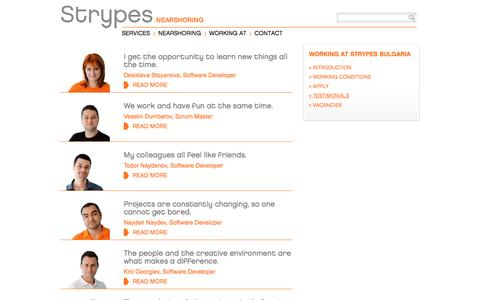 Screenshot of Testimonials Page strypes.eu - Strypes - Testimonials - captured Feb. 25, 2016