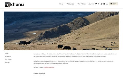 Screenshot of Jobs Page khunu.com - Khunu Jobs | Join the Team                           | Khunu - captured Oct. 6, 2014