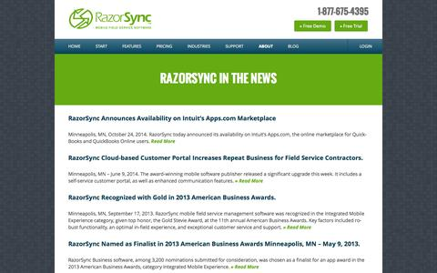 RazorSync Cloud-Based Software Press Releases | Scheduling & Service Management App