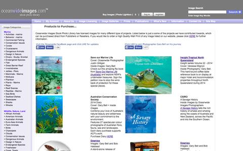 Screenshot of Products Page oceanwideimages.com - Products - Calendars Books Posters Coins Magazines - captured Oct. 7, 2014