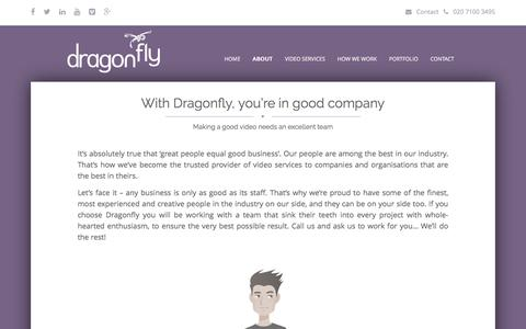 Screenshot of Team Page dragonfly.co.uk - Our Team | Meet The Dragonfly - captured Sept. 15, 2019