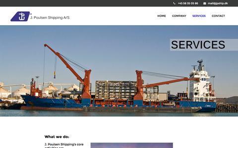 Screenshot of Services Page jpship.dk - SERVICES – J. Poulsen Shipping A/S - captured Nov. 17, 2016
