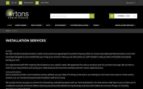 Screenshot of Services Page ortonsaudiovisual.com - Services - captured Feb. 28, 2016