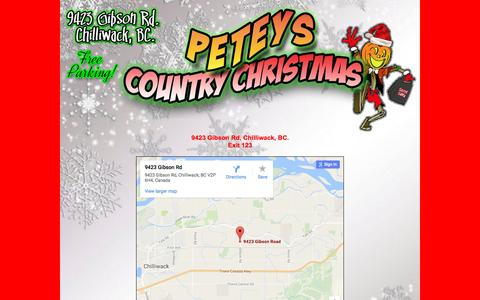 Screenshot of Maps & Directions Page peteyscountrychristmas.ca - Directions - captured Jan. 11, 2017