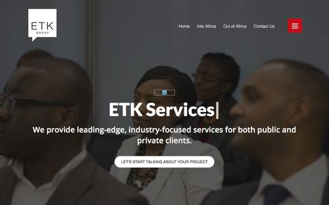 Screenshot of Services Page etkgroup.co.uk - Services - ETK - captured July 11, 2017