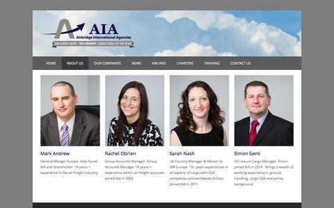 Screenshot of Team Page aiacargo.com - Our Management Team | Airbridge International Agencies - captured Feb. 5, 2016