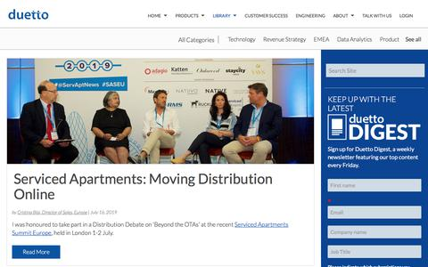Screenshot of Case Studies Page duettocloud.com - Revenue Strategy Blogs | Hotel Industry News - Duetto Blog | Marketing - captured Jan. 6, 2020