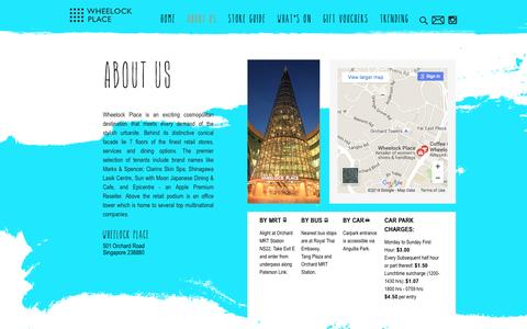 Screenshot of About Page wheelockplace.com - About Us | WHEELOCK PLACE - captured June 19, 2016