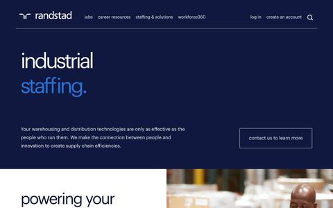 Industrial Staffing | Randstad USA