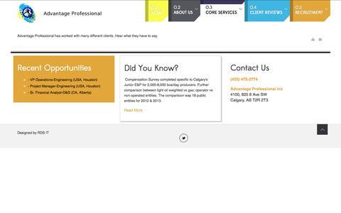 Screenshot of Testimonials Page advantageprofessional.ca - Enterprise Risk - captured Nov. 2, 2014